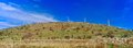 Holyland Series - Golan Heights Windmills panorama Royalty Free Stock Photography