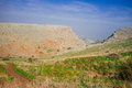 Holyland series mt arbel no is a high ridge above the sea of galilee from which you can see golan heights jordan galilee and of Royalty Free Stock Photo