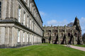 Holyrood palace and abbey in edinburgh scotland Royalty Free Stock Photos