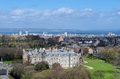 Holyrood palace and abbey in edinburgh scotland Royalty Free Stock Images