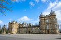 Holyrood palace in edinburgh scotland front of Royalty Free Stock Images