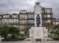 Homage first world war oporto december monument to killed fighters manuel mendes and henrique moreira Stock Photos