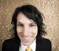 Hombre de negocios del rock-and-roll con una sonrisa grande Fotos de archivo