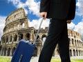 Hombre de negocios en la ciudad de roma Fotografía de archivo