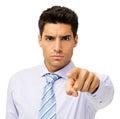 Hombre de negocios joven serio pointing at you Imagen de archivo libre de regalías