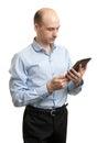 Hombre de negocios joven using digital tablet Imagen de archivo libre de regalías