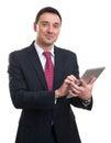 Hombre de negocios joven using digital tablet Fotografía de archivo