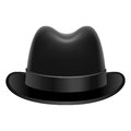 Homburg hat illustration of stylish Stock Images