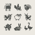 Home animal set icon Royalty Free Stock Image
