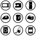 Home appliance icons set Royalty Free Stock Image