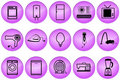 Home appliances buttons Royalty Free Stock Photo
