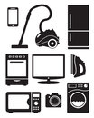 Home appliances and electronics icons Royalty Free Stock Image