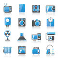 Home appliances and electronics icons Stock Photography