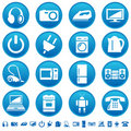 Home appliances icons Royalty Free Stock Photography