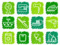 Home appliances icons Royalty Free Stock Images