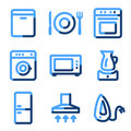Home appliances icons Royalty Free Stock Image
