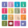Home appliances icons in flat design set 3 Royalty Free Stock Photo