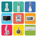 Home appliances icons  set 2 Royalty Free Stock Photo
