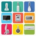 Home appliances icons  set 2 Royalty Free Stock Photo
