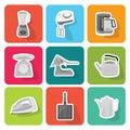 Home appliances icons  set 3 Royalty Free Stock Photo