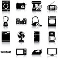 Home appliances icons silhouettes of Stock Photos