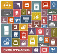 Home appliances set of icons of different Stock Images