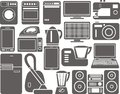 Home appliances set of silhouettes of household Royalty Free Stock Photography