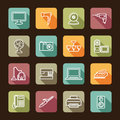 Home appliances simple icons of Stock Photography