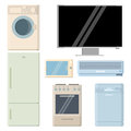 Home appliances vector illustration of several appliance electronics Stock Images