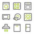 Home appliances web icons Royalty Free Stock Image