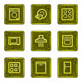 Home appliances web icons, electronics card series Stock Images