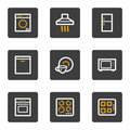 Home appliances web icons, grey buttons series Royalty Free Stock Images