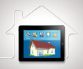 Home automation house management concept Royalty Free Stock Photo