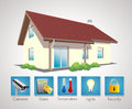 Home automation house management concept Stock Images