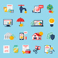 Home Budget Icons Set Royalty Free Stock Photo