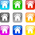 Home buttons. Royalty Free Stock Photo