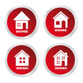Home buttons over white background vector illustration Royalty Free Stock Image