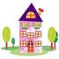 Home cartoon vector Royalty Free Stock Photo
