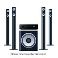 Home cinema speker system vector speaker detalized set Royalty Free Stock Photography
