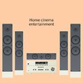 Home cinema speker system vector speaker detalized set Stock Photography