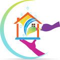 Home cleaning service logo Royalty Free Stock Photo
