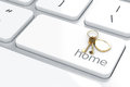 Home concept d render of enter button with keys Royalty Free Stock Photo