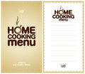 Home Cooking Menu Design template. Royalty Free Stock Photo