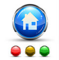 Home Cristal Glossy Button Royalty Free Stock Photo