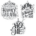 Home decor quotes signs set