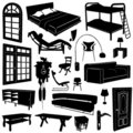 Home decoration and furniture vector Stock Photography
