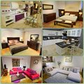 Home design collage interior for the various rooms of a Royalty Free Stock Image
