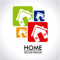 Home design over gray background vector illustration Stock Photos