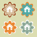 Home design over green background vector illustration Stock Photo