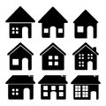 Home design over white background vector illustration Royalty Free Stock Photo